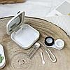 Белый кейс для контактных линз, фото 2