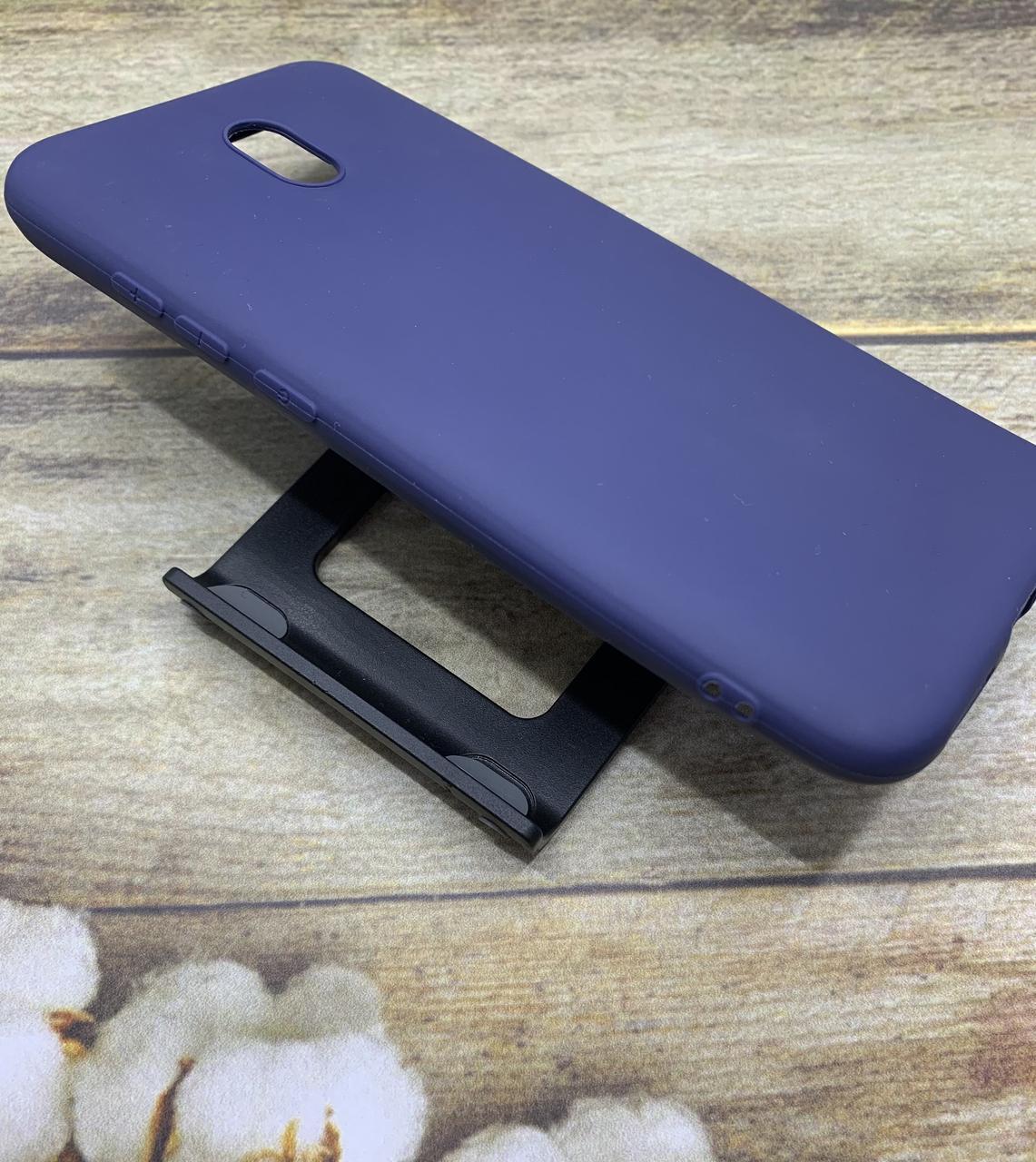 Чехол на Xiaomi Redmi 8A матовый цветной силиконовый  ультратонкий бампер/ накладка