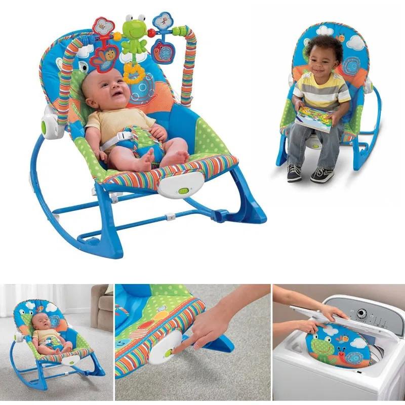 Крісло-гойдалка ibaby з режимом вібрації і дугою з іграшками
