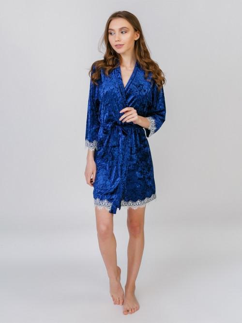 5091 халат велюр синій Serenade (L) #N/A