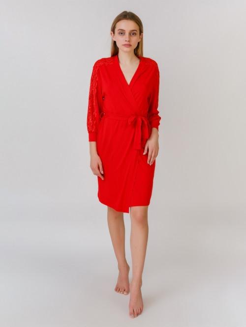 5550H халат віскоза червоний Serenade (L) #N/A