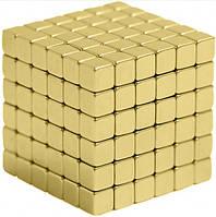 Нео куб Neo Cube золотой квадрат магнитный 3-D блок конструктор для самых маленьких для детей.