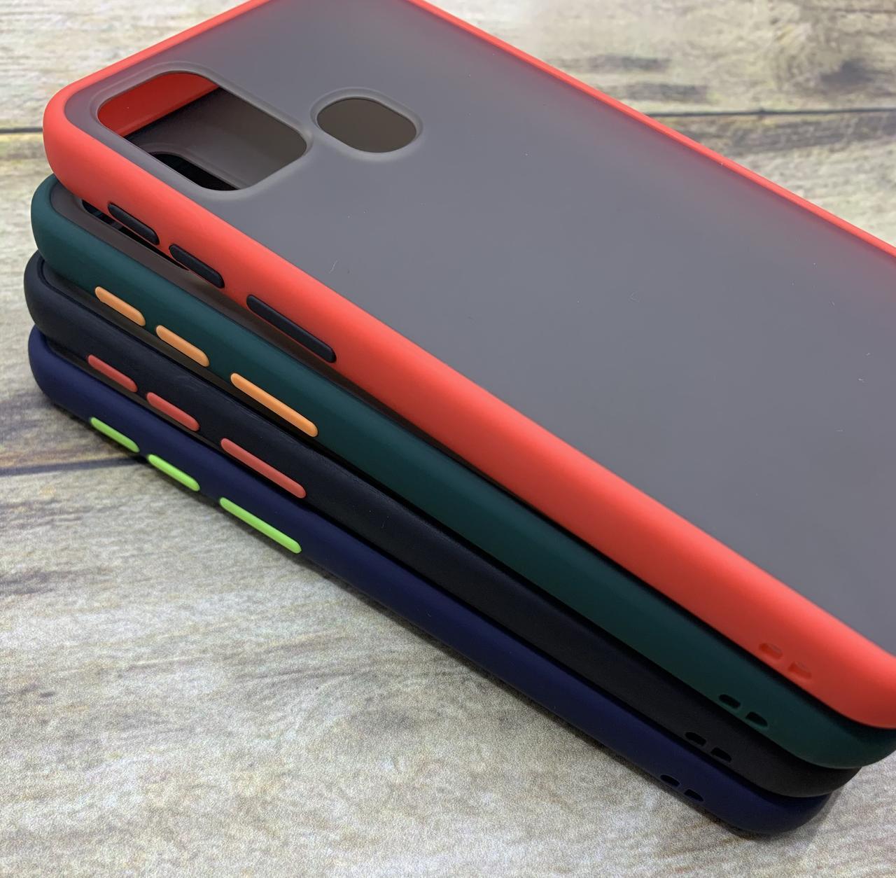 Чехол бампер накладка на Samsung M31 2020 (M315) противоударный цветная окантовка