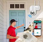 Камера видеонаблюдения наружная IP Wi-Fi PTZ камера Adna Cam-QC2, умная Wi-Fi камера поворотная для улицы, фото 5