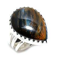 """Серебряное кольцо с петерситом """"Капля"""", размер 18,6, фото 1"""