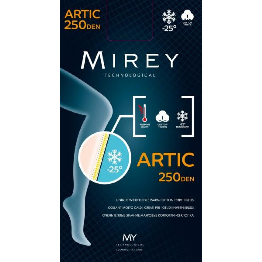 Artic 250 den колготи Nero Mirey (3-M) #N/A