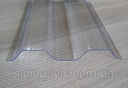 Полікарбонатний шифер прозорий трапеція Rober 2000*1045*0,5 мм