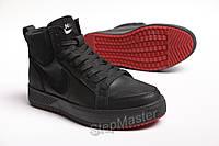 Зимние кожаные кроссовки на меху Nike Air Force Winter, фото 1