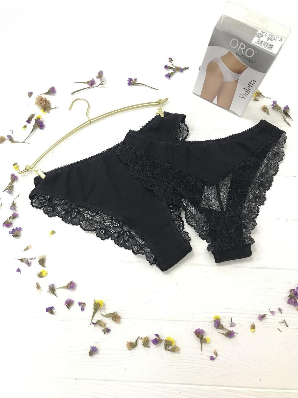 Violetta трусики жіночі чорні (1шт) Oro (S) #N/A