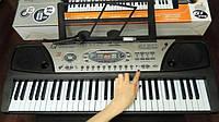 Детский синтезатор MQ-810 USB,от сети и батареек,2динамика,61 клавиша,с микрофоном,USB