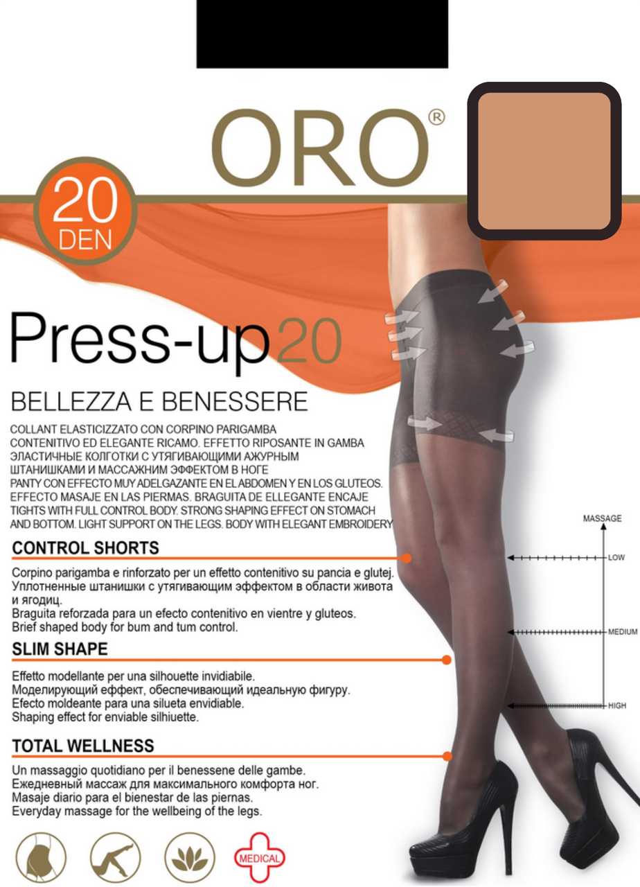 Press up 20 den колготи Natural Oro (4-L) #N/A