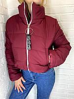 Куртка-пуховик короткая SRT бордо M-XL