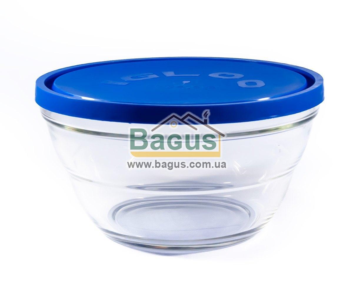 """Емкость (судок) для продуктов 2,3л 21,5см круглая стеклянная с крышкой """"Lambada"""" Borgonovo 14075520"""