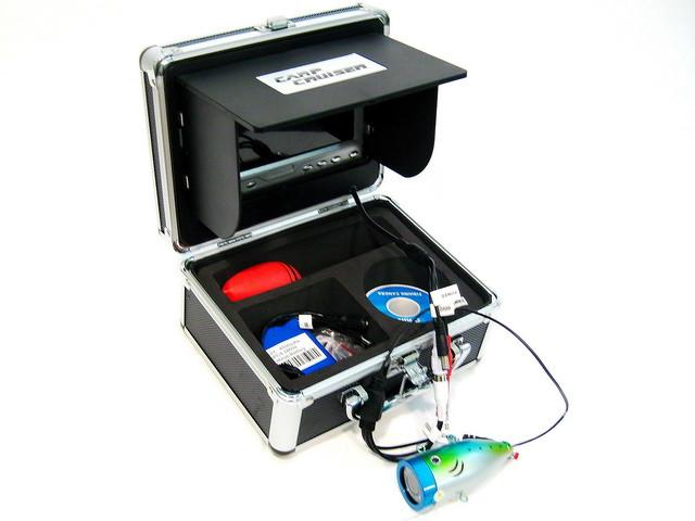 Подводная видео камера CARPCRUISER CC7-iR/W15-S с жестким раскладным солнцезащитным козырьком для рыбалки