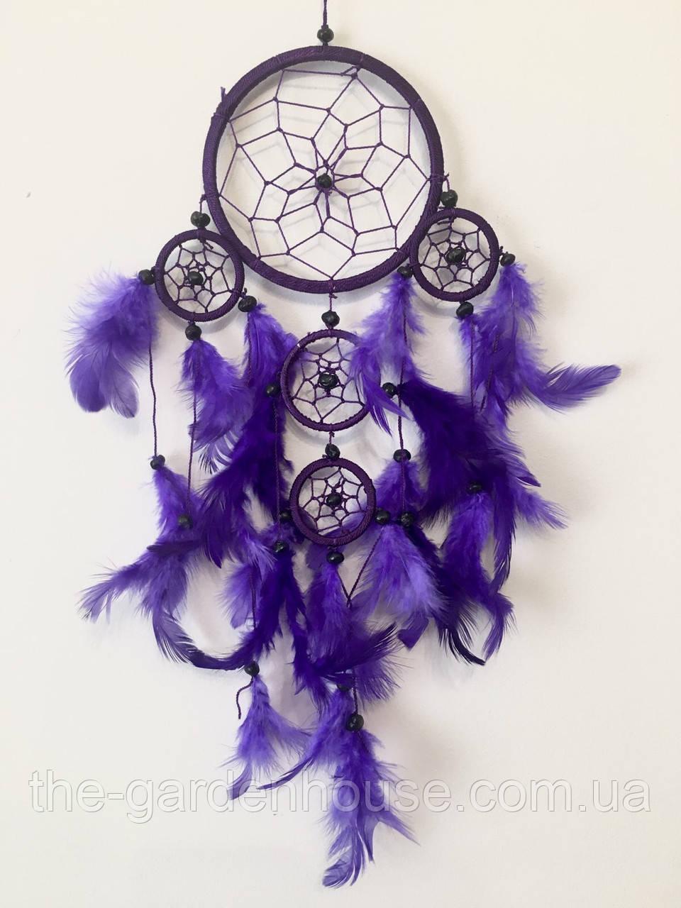 Ловец снов фиолетовый (диаметр 12 см)