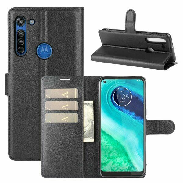 Чехол Fiji Luxury для Motorola Moto G8 книжка черный