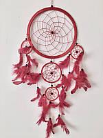 Ловец снов красный (диаметр 12 см)