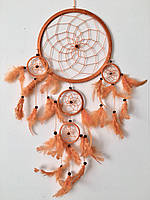 Ловец снов оранжевый (диаметр 12 см)