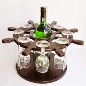 Эксклюзивный винный набор в виде штурвала - мини бар купить