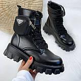 Женские ботинки ДЕМИ / осенние черные эко-- кожа, фото 5