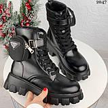 Женские ботинки ДЕМИ / осенние черные эко-- кожа, фото 3