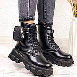 Женские ботинки ДЕМИ / осенние черные эко-- кожа, фото 4