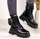 Женские ботинки ДЕМИ / осенние черные эко-- кожа, фото 6
