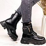 Женские ботинки ДЕМИ / осенние черные эко-- кожа, фото 7