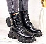 Женские ботинки ДЕМИ / осенние черные эко-- кожа, фото 8