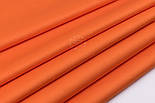 Сатин тканина шириною 160 см однотонного яскраво-помаранчевого кольору № 2573с, фото 4