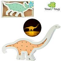 Деревяннаяянная игрушка Ночник MD 2079  динозавр