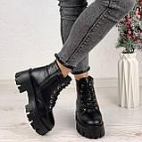Только 40 р 26 см! Женские ботинки ЗИМА черные на шнуровке натуральная кожа, фото 2