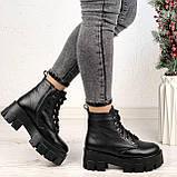 Только 40 р 26 см! Женские ботинки ЗИМА черные на шнуровке натуральная кожа, фото 3