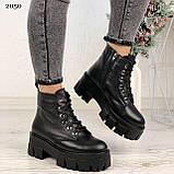Только 40 р 26 см! Женские ботинки ЗИМА черные на шнуровке натуральная кожа, фото 4