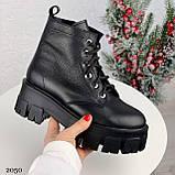 Только 40 р 26 см! Женские ботинки ЗИМА черные на шнуровке натуральная кожа, фото 6