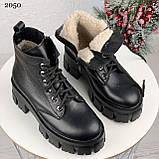 Только 40 р 26 см! Женские ботинки ЗИМА черные на шнуровке натуральная кожа, фото 7