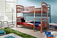 Кровать деревянная двухъярусная подростковая Кира