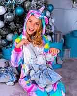 Детская пижама Кигуруми Единорог Искорка 130 (на рост 128-138см)