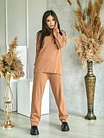 Женский прогулочный теплый костюм с широкими брюками, фото 1