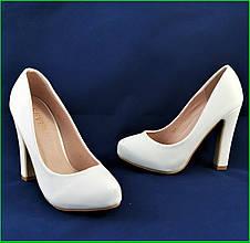 ✅ Женские Белые Туфли на Каблуке Лаковые Модельные (размеры: 36,37,38,39,40) - 702