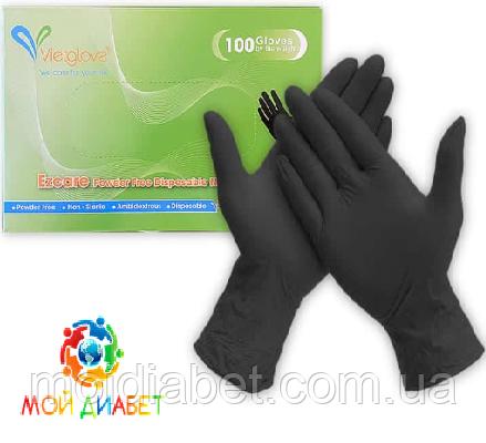 Медицинские нитриловые перчатки Vietglove. Размер - М (100 шт.)
