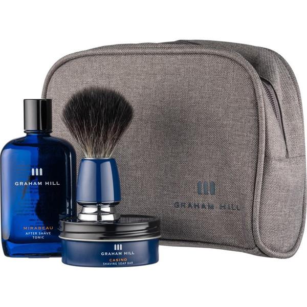 Набор для бритья Graham Hill Shaving Set (мыло 85г + тоник после бритья 100мл + помазок + косметичка)