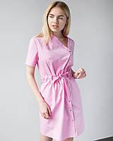 Медицинская туника Наоми цвет розовый