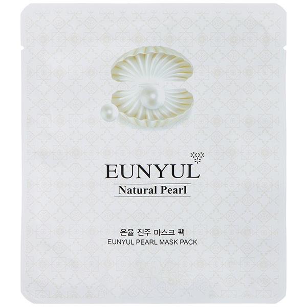 Тканевая маска для лица с жемчужной пудрой Eunyul White Pearl Mask Pack 30 г