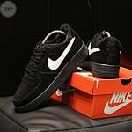 Мужские зимние кроссовки Nike Air Force Low Black Winter (черные) 269TP, фото 2
