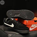 Мужские зимние кроссовки Nike Air Force Low Black Winter (черные) 269TP, фото 3