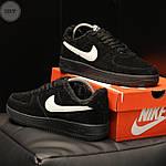Мужские зимние кроссовки Nike Air Force Low Black Winter (черные) 269TP, фото 4