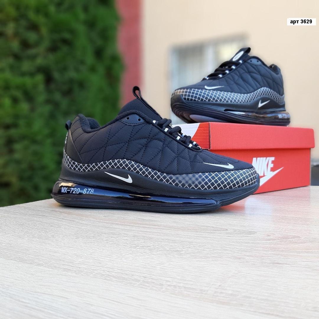 Зимние кроссовки Nike Air Max 720 - 878 (черно-белые) - Унисекс 3629