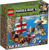 Конструктор LEGO Minecraft Пригоди на піратському кораблі (21152)