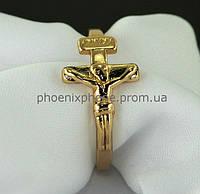 """Кольцо """"Крест"""", покрытое золотом (10811)"""